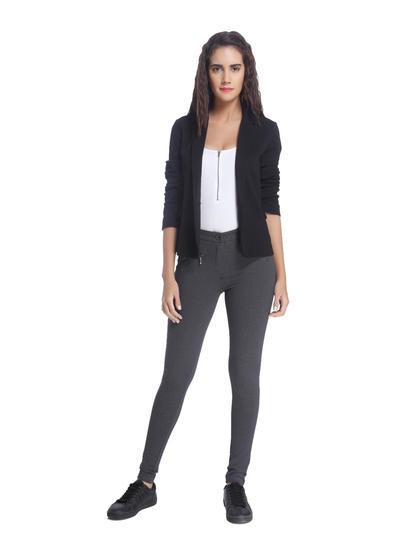 Dark Grey Pants With Zip Detail