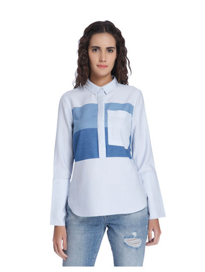 White Patchwork Shirt