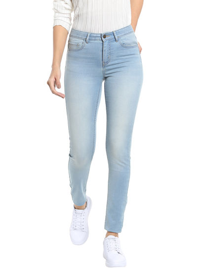 Light Blue Slim Fit Jeggings
