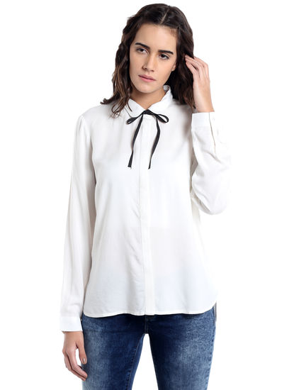 White String Detail Shirt