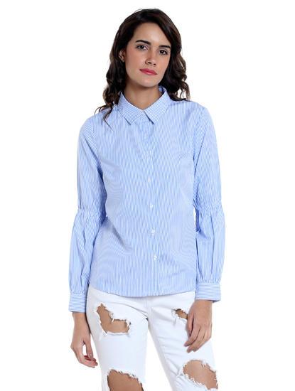 White Puffed Sleeved Shirt