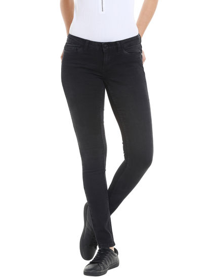 Black Low Waist Slim Jeans