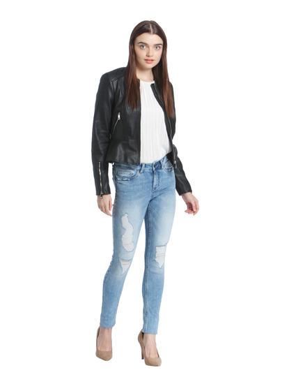 Light Blue Distressed Super Slim Jeans