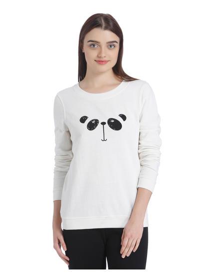 Off White Panda Print Sweatshirt