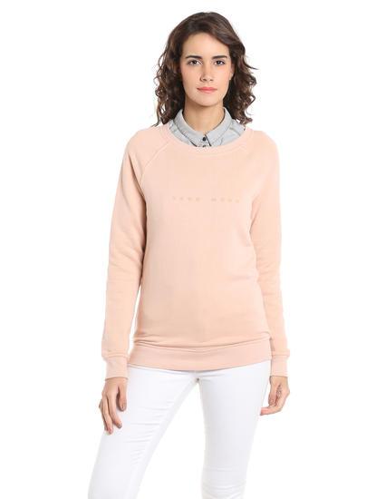 Pink Logo Print Sweatshirt