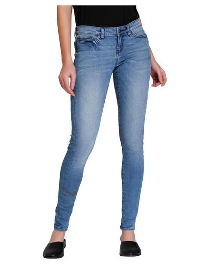 Light Blue Low Waist Slim Fit Jeans