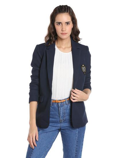 Dark Blue Badge Blazer