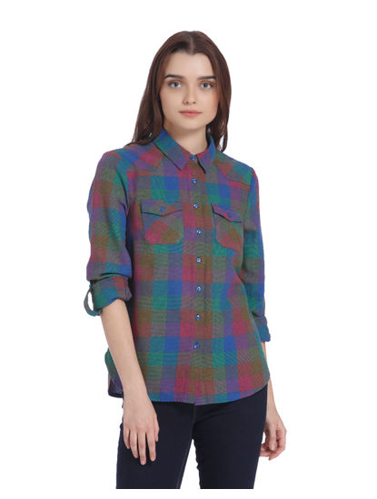Multi Coloured Check Shirt
