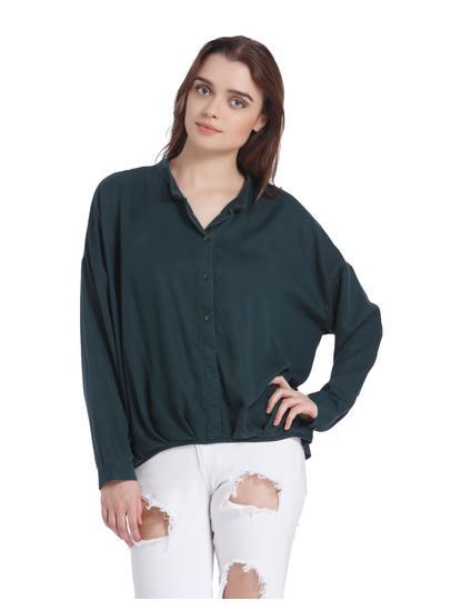 Green Loose Fit Shirt