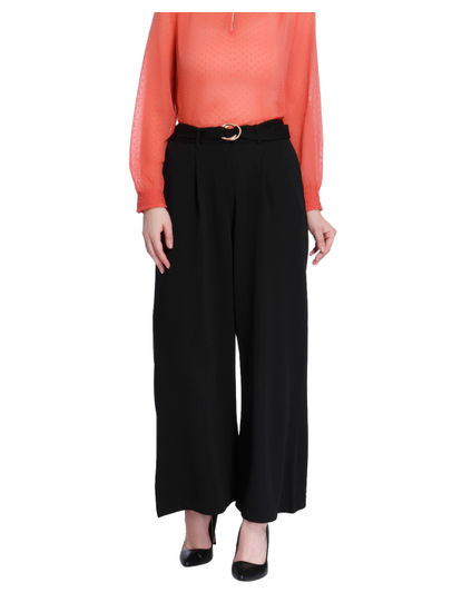 Black High Waisted Flared Pants