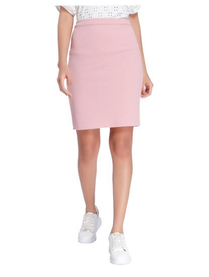 Pink Mid Waist Pencil Skirt