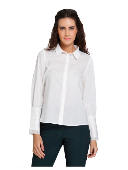 White Tunnel Sleeves Shirt