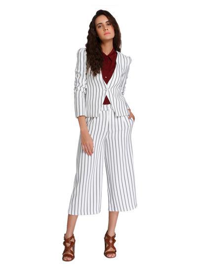 White Striped Culottes