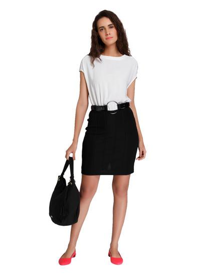 White & Black Mini Dress