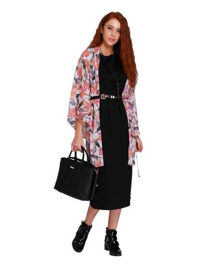 Off White Printed Kimono Style Shrug