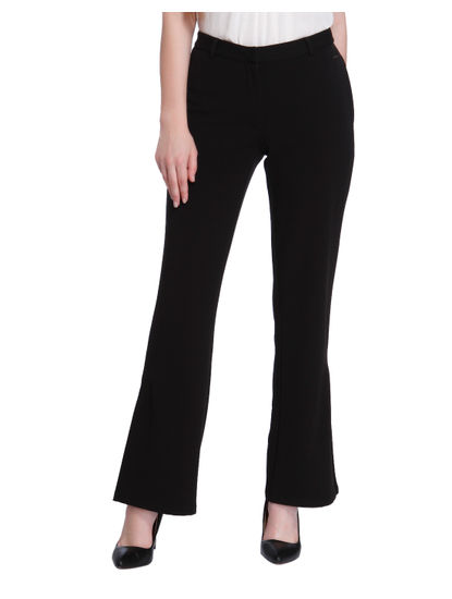 Black Split Ankle Pants
