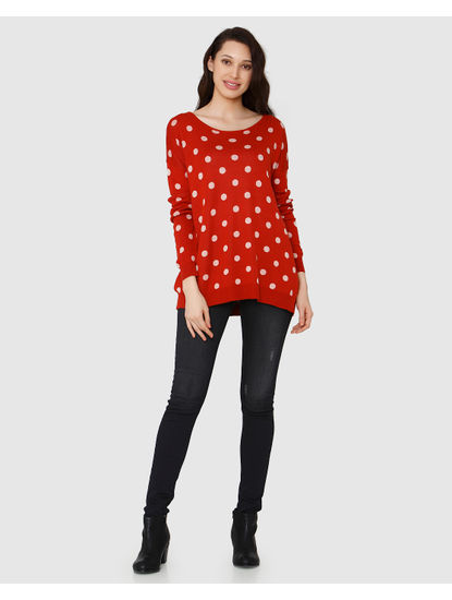 Red Polka Dot Sweater