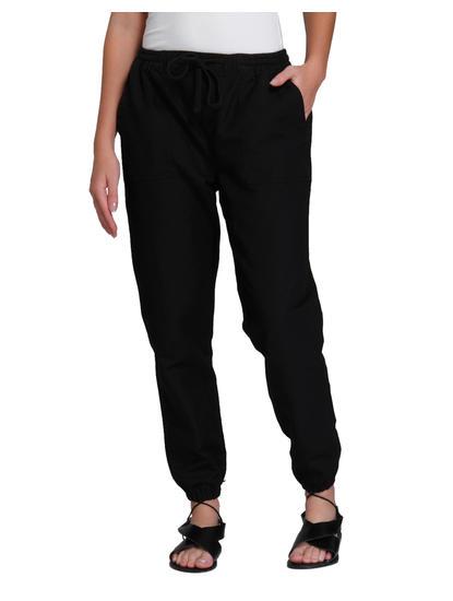 Black Linen Joggers