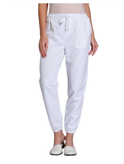White Linen Joggers