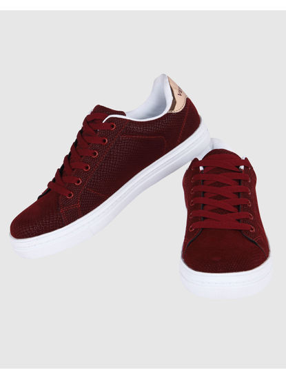 Red PU Sneakers