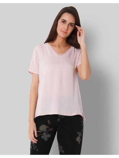 Pink V-Neck Top