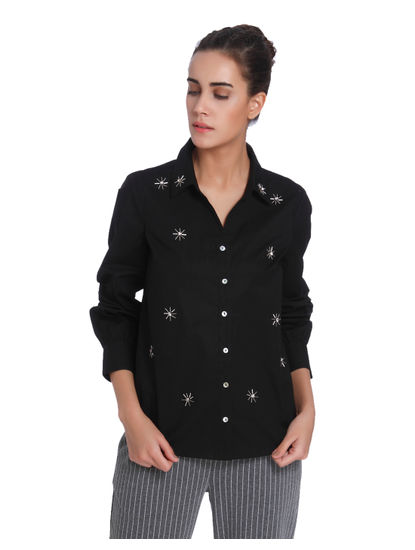 Black Studded Shirt
