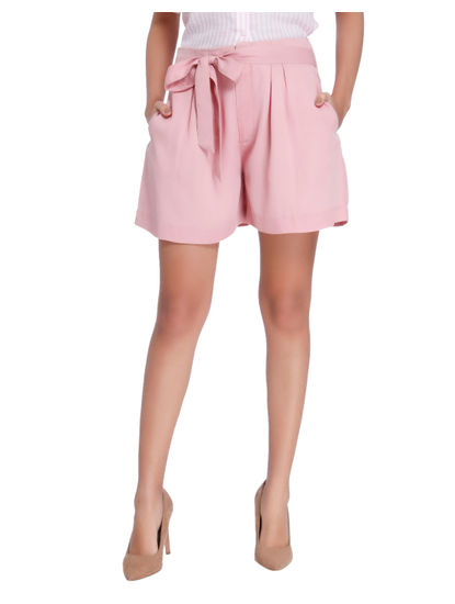 Pink Knot Loose Shorts