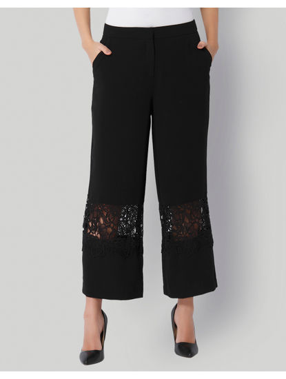 Black Lace Insert Culottes