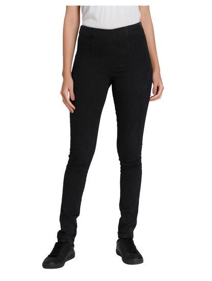 Black High Waisted Slim Jeans