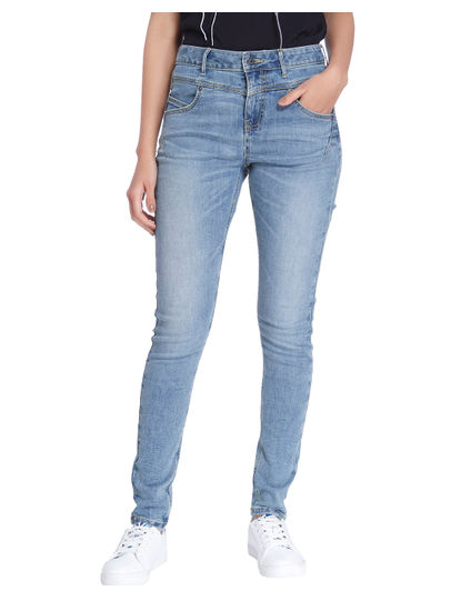 Light Blue High Waist Slim Fit Jeans