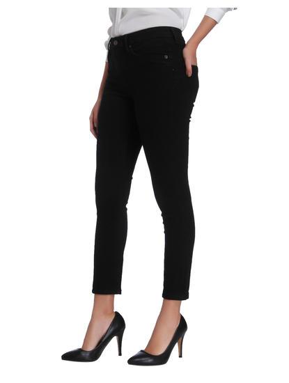Black Mid Rise Slim Fit Jeans