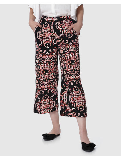 Black All Over Print Culottes