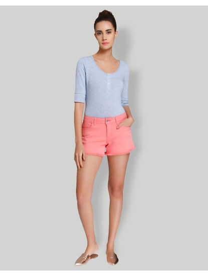 Pink Mid Waist Shorts