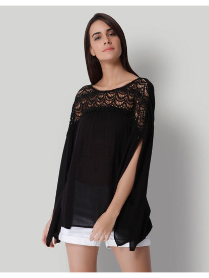 Black Lace Detail Top