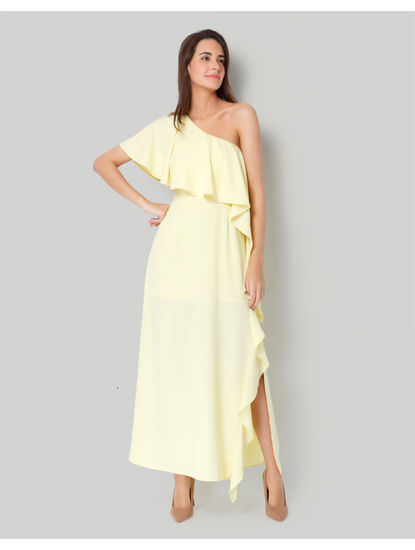 Yellow One Shoulder Maxi Dress