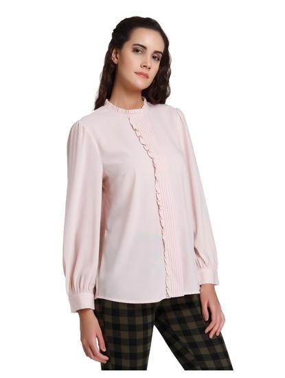 Light Pink Frill Detail Shirt