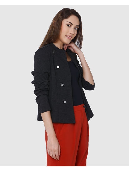 Dark Grey Short Blazer