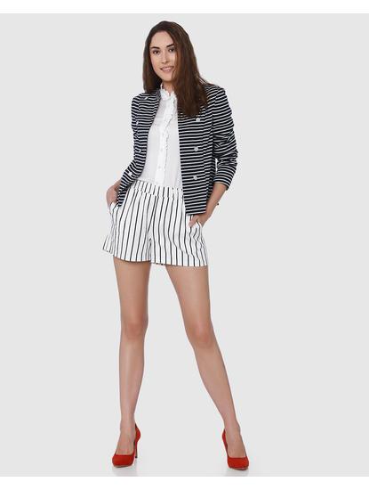 Dark Blue Striped Blazer