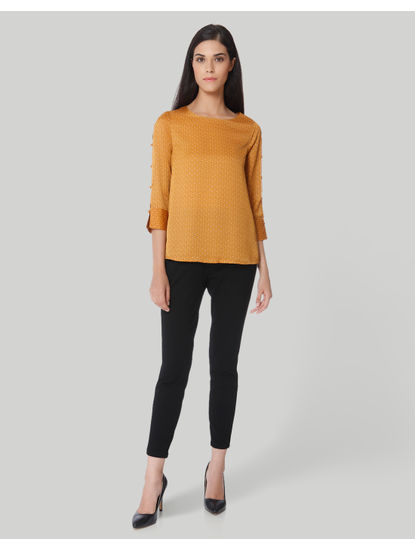 Mustard Polka Dotted Top