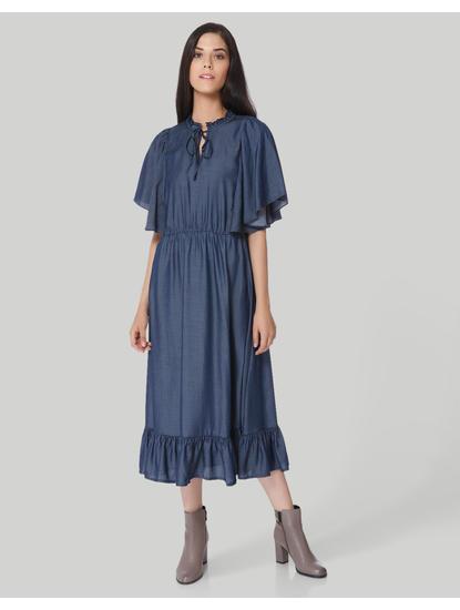Blue Denim Midi Dress
