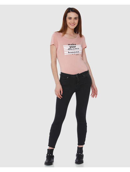 Grey Mid Rise Ankle Length Skinny Fit Jeans
