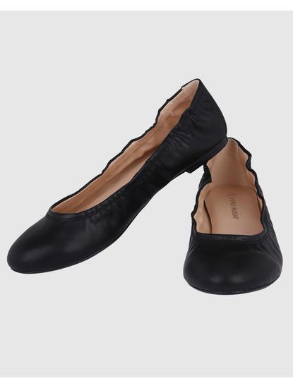 Black Pu Ballet Flats