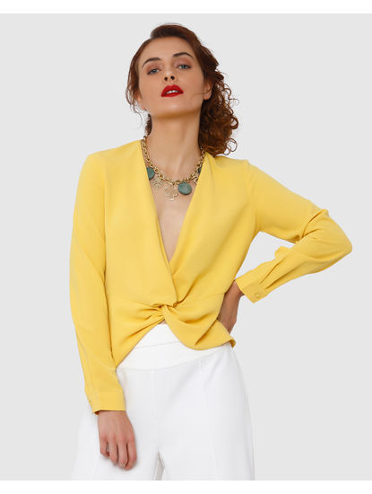 Yellow Butterfly Knot Top