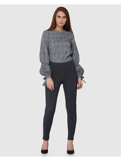 Grey Regular Fit Leggings