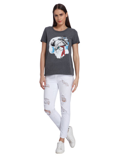 Women Casual Solid T-Shirts