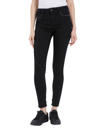 Women Casual Solid Jeans