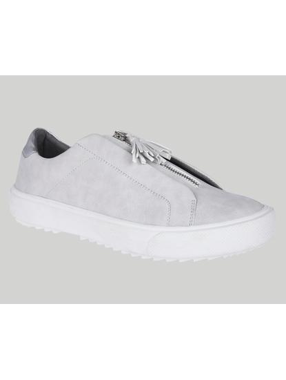 Grey Zip Detail Sneakers