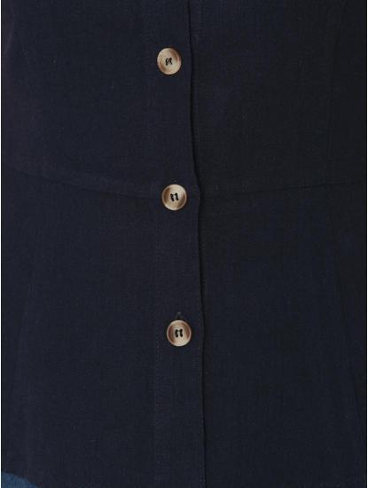 Navy Blue Peplum Top