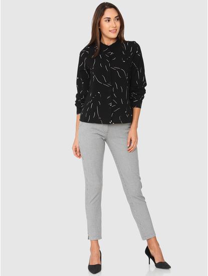 Black Abstract Print Shirt