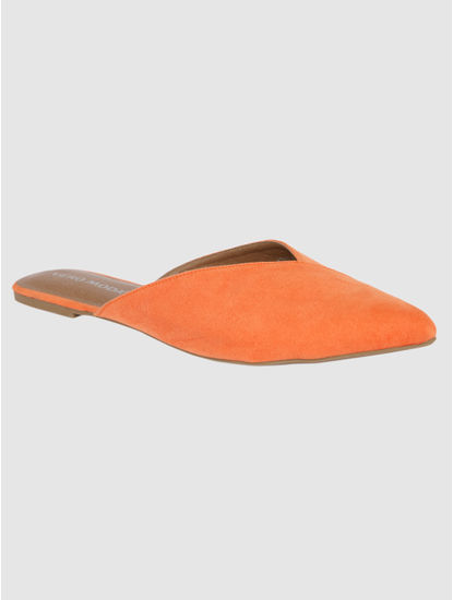 Orange Slip Ons